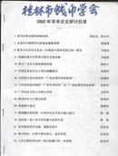 桂林市钱币学会2002年学术论文研讨目录