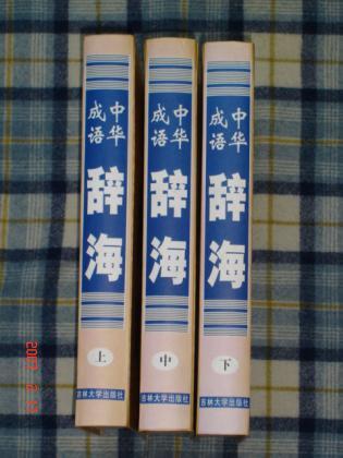 《中华成语辞海》〔修订版〕上中下全 16开豪华精装 仅印三千册