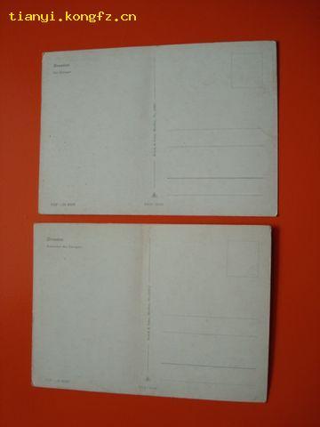 国外老明信片:彩色明信片.两张.见图