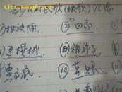 """南郊张花村民歌(秧歌)记录(草稿)71年""""拐姑子.先生猛磨.西河院.背板凳等等""""难得的资料"""