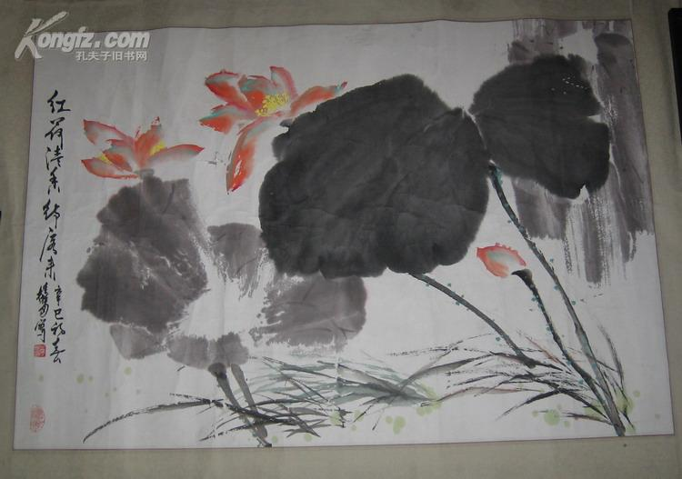 中国美术家协会会员  著名画家  单桂福  国画 长102CM 宽69CM