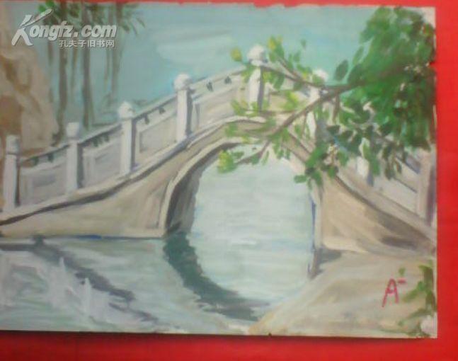 苏州拱桥-油画