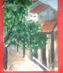 绿树成荫-油画