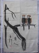 刘云泉 写意花鸟45*66厘米