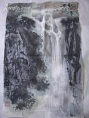 画家 王成 山水画[68x43cm]