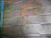 中国行政区  (地理教学参考挂图)64年一版 74年二版 78年7次  比例尺1:4000000  (1.5米×1.55米)