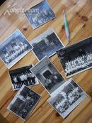 文革期间在武昌毛主席旧居和农民运动讲习所合影老照片8张