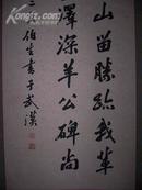 武汉著名已故老书法家张远尊书法立轴一件  纸心134厘米.42厘米