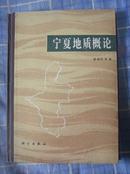 宁夏地质概论 附图版32页(1989年一版一印布脊精装600册 非馆藏 9品)