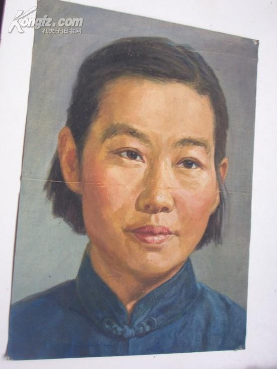 老油画:中年妇女像