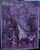 """套色木刻:""""塔林之路""""/辽宁锦西/霍明伦/(版画类/80年代)"""