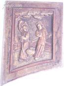 雕花木板/人物/二人在…/大概民国或更早/规格173/210