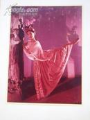 约八十年代.封面原画《 南月:著名女演员彩色照相:6张 》19.5x15公分