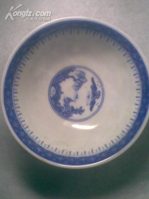 解放后景德镇青花瓷碗