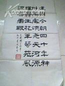 樊淑珍书法一幅,尺寸67*34cm,