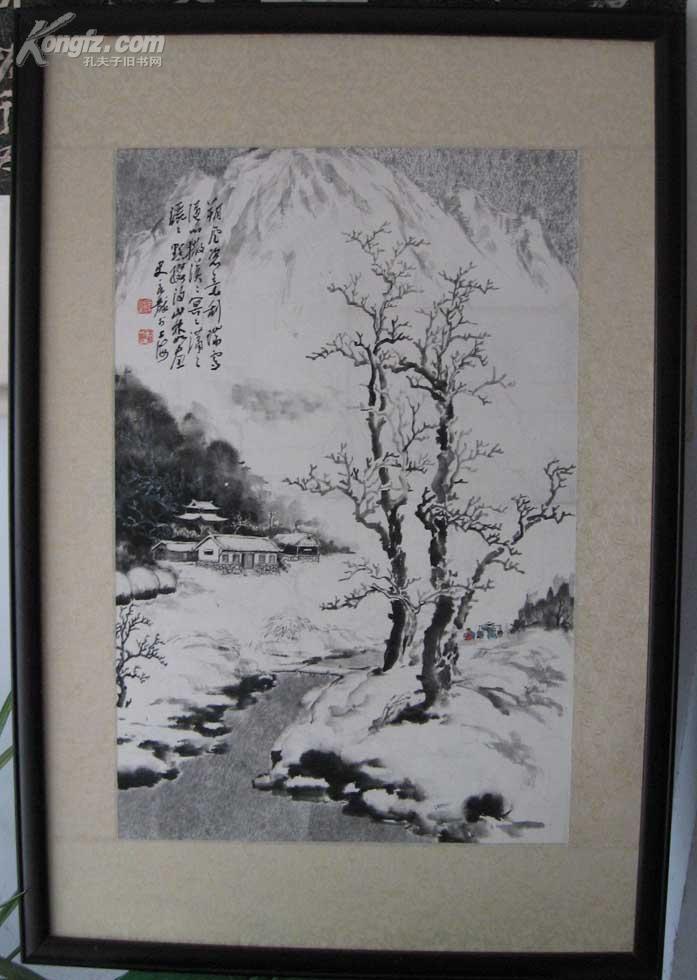 史良黻绘画作品(保真,画心:67*44厘米)