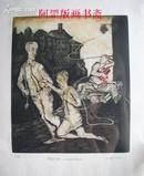 原版版画作品酸刻金属版画《男孩》捷克Josef Kouba