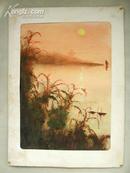 NO01八十年代水彩画《写生风景》韵味十足 富有美感和诗意