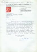 英国皇家学会会员、剑桥大学李约瑟研究所名誉所长李约瑟致席泽宗院士信札(一页带封)