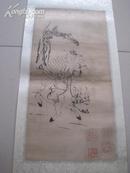 清代木刻人物年画 尺寸为45*22cm