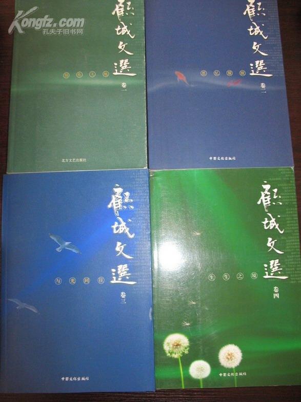 顾城文选 全套 1-4卷 第一卷 第二卷 第三卷 第四卷(1234 四卷全套)附送校订  合售共四册全本 10品 一版一印