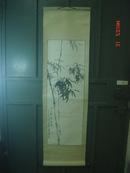 钟锦焕书画;立轴(100x34.5cm  有轻微受潮斑迹 见图)