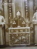 民国照相《5位穿长衫:吕祖仙师》照相尺寸19x15公分