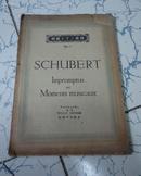 模范 乐谱 NO 4  奥付(舒伯特 impromptus und moments musicaux) 钢琴版 昭和十八年初版 日文 16开