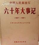 中国人民解放军六十年大事记(1927-1987)