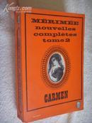 法文原版         1965年版 红色书口  梅里美《卡门》  Carmen by Prosper Merimee