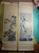60--70年代唐伯虎丝织画.