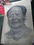 罕见珍品文革时期:毛泽东素描画像  (1969年02月画的)