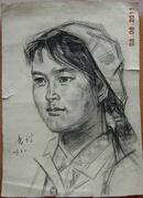 靳尚谊素描人像30.5-22.5作于1972年