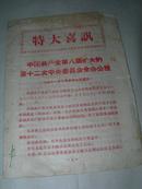 1968年红印 特大喜讯 中国共产党第八届扩大的第十二次中央委员会全会公报  32开8页