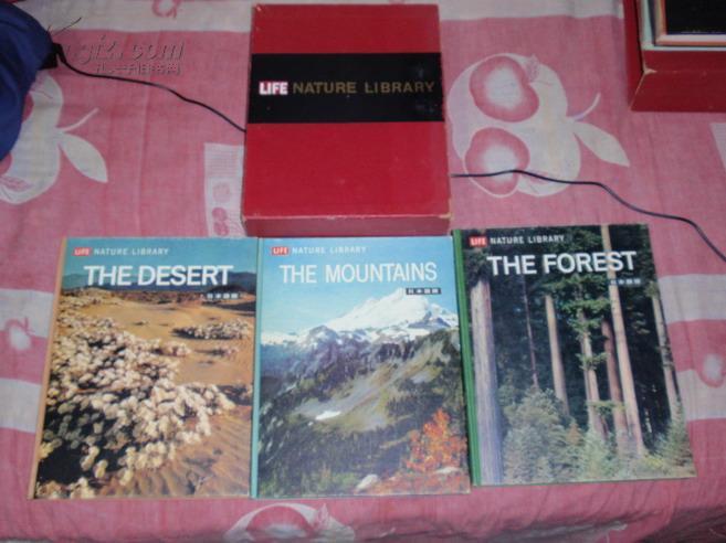 日文原版:life nature library 生命自然图书馆...日本语版(两盒装7册,内日文,彩色图片!)C1