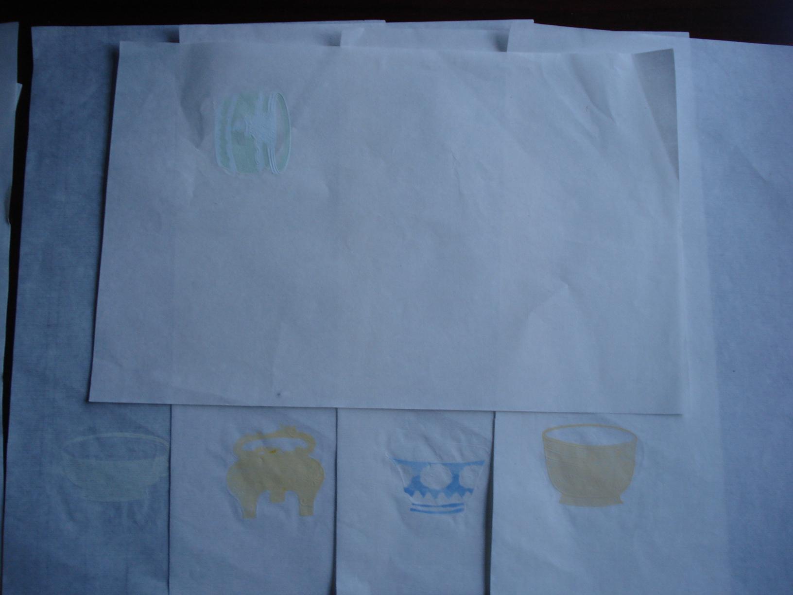 精美木板水印拱花清供五张