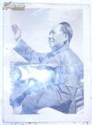 老照片/毛主席/1张/杭检2/背面写:读毛主席的书,听毛主席的话…