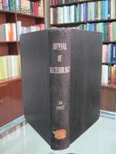 民国英文版(JOURNAL OF BACTERIOLOGY)《美国细菌学月刊》 34卷 1937年