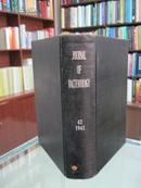 民国英文版(JOURNAL OF BACTERIOLOGY)《美国细菌学月刊》 42卷 1941年