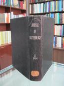 民国英文版(JOURNAL OF BACTERIOLOGY)《美国细菌学月刊》27卷 1934年