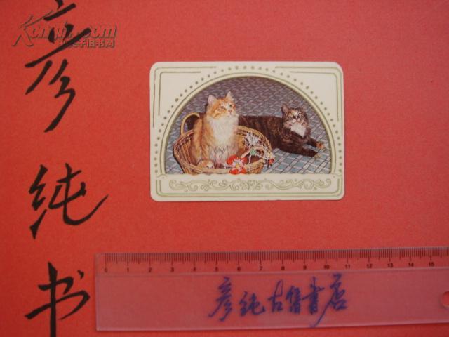 ★《1983年年历卡》 猫咪照片 品好 彦纯书店祝您购书愉快!