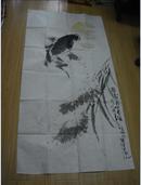 董润生·国画一幅(未裱137×70厘米)有题字