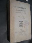 Un chancelier dancien régime: le régne diplomatique de m. de Metternich》一个政权前总理:统治时期外交 梅特涅1889年毛边未裁