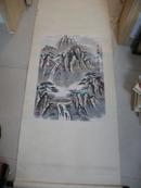 中国美协会员韩希山 山水作品一幅 已装裱 (老裱工 尺寸45X65厘米)