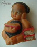文革人物胶皮玩具-人小书大、书红心更红,规格70高MM,9品。