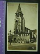 民国银盐纸基照片【外国教堂】国外明信片版