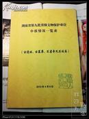 湖南省第九批省级文物保护单位申报情况一览表(古遗址、古墓葬、石窟寺及石刻类)