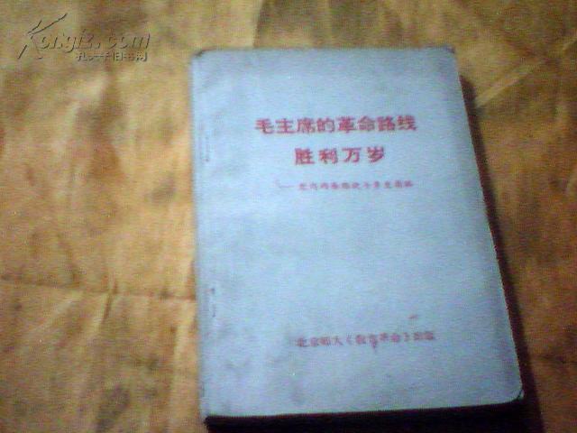 毛主席的革命路线胜利万岁--党内两条路线斗争史简编(有毛林像)