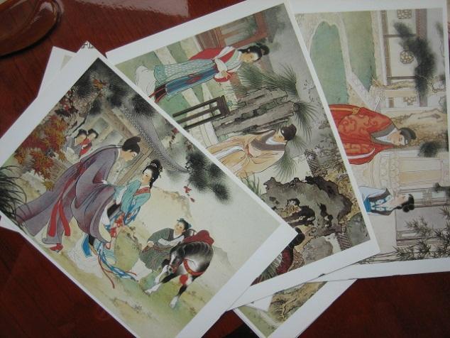 王叔晖工笔人物《西厢记》作品选 明信片