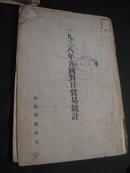 1938年各国对日贸易统计   昭和十六年  日文